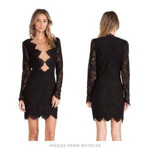 For Love & Lemons ▪ Black Lace Noir Mini Dress